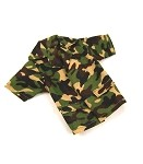 Shirt: 'William' Camo, Short Sleeves with Pocket Flaps