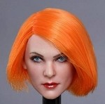 Gabrielle Female Head Sculpt (Orange)