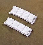 Ammo Pouches<BR>(White/Molded/Pair)
