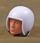 White Helmet with Chinstrap