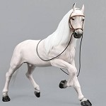 Horse with Saddle Set (White)*