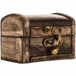 Wooden Trunk (Small, Weathered Brown)