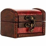 Wooden Trunk (Small, Red)