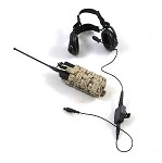 Radio with Head Set & Pouch