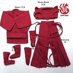 Ninja Outfit Set (Red)<BR>PRE-ORDER: ETA Dec. 2019