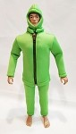 Lime Green Frogman Outfit Set (Neoprene Material)<BR>PRE-ORDER: ETA LATE APR 2021